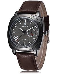 Skone nueva moda moderna relojes mujer Casual cuarzo relojes de pulsera mujer piel banda resistencia al agua Dressing reloj envío gratuito