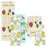 30 Stück SET Aufkleber Ostern - je 10 Sticker FROHE OSTERN Geschenkaufkleber Oster-Verpackung Geschenke Osterdeko Etiketten Banderole selbstklebend Ostergeschenke verpacken