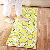 WSX Home matten Hausmatten/Teppiche Cartoon Bett gelb Teppiche stilvolle Anti-Rutsch-Matten matten Türschwellen Schlafzimmer matten weich und komfortabel (Size : 60×90cm)