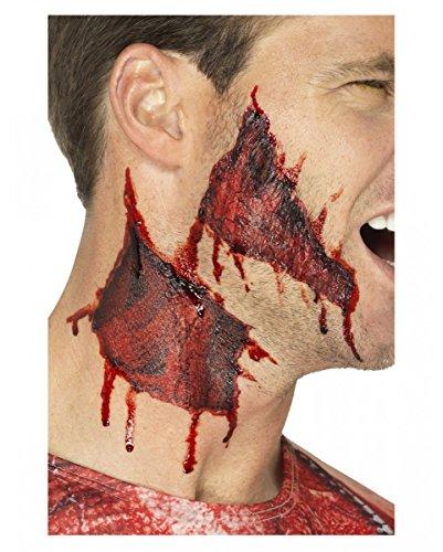 Horror-Shop Aufgerissene Haut Klebetattoos für Halloween
