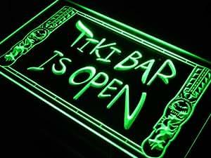 enseigne lumineuse s110 g tiki bar open mask pub new neon light sign cuisine maison. Black Bedroom Furniture Sets. Home Design Ideas