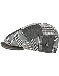 Lierys Capri Bic Patchwork Flatcap Schirmmütze Sportmütze Schiebermütze für Herren Schiebermütze Baumwollcap Sommercap mit Schirm, mit Futter Frühjahr Sommer
