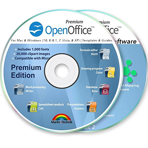 Office Suite 2019 Professional for MS Windows PC & Mac Home Student Business Software kompatibel mit Microsoft Word Excel Disk 2 DVD Set von OpenOffice