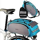 Huntvp® Satteltaschen 14/25/26L Wasserdicht Gepäckträgertasche Fahrrad Hintsitz Trunkbag Hochwertig Fahrradtasche Reparaturset mit Schultergurt und Reflektierendes Schild