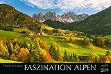 Faszination Alpen 2019: Großer Foto-Wandkalender mit Bildern von Gipfeln der Alpen. Edler schwarzer Hintergrund und Foliendeckblatt. PhotoArt Panorama Querformat: 58x39 cm.