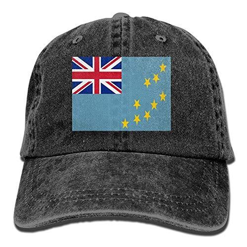 Flag of Tuvalu Unisex Adult Denim Dad Baseball Hat Sports Outdoor Cowboy Cap for Men and Women - Tuvalu Cap