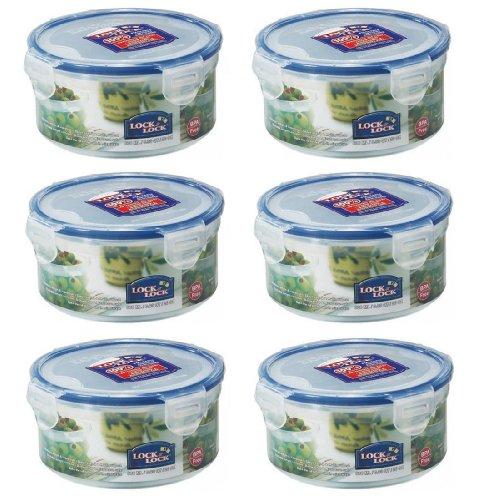 6-x-lock-and-lock-600ml-plastic-food-storage-container-hpl933