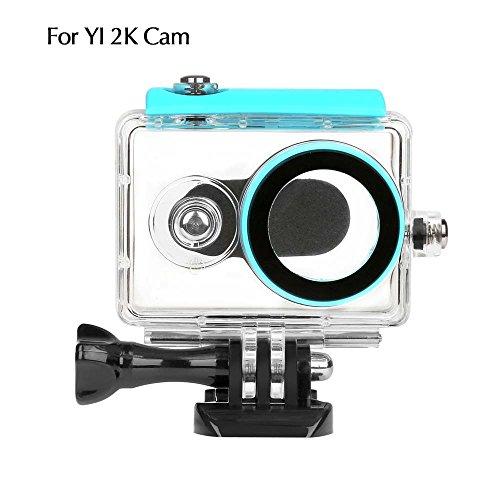 Imusk 40m Underwater Housing Coque pour Xiaomi Yi Caméra d'action étanche + à la poussière Coque plongée avec tuba Sports Box