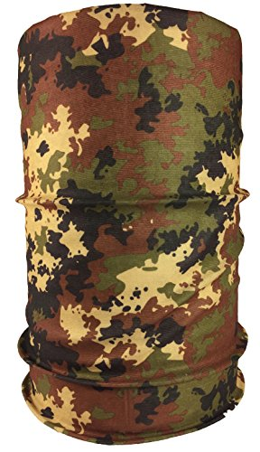 Premium Multifunktionstuch Sturmmaske Totenkopf, Joker und viele mehr. Halstuch mit Totenkopf- Skelettmasken (Italien Tarn)