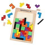 SainSmart Jr. Tetris Tangram Holzpuzzles Lernspielzeug Intelligenz Pädagigisches Spielzeug für Kinder (40 Stück)