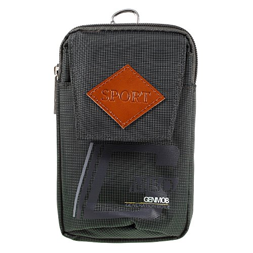 DFV mobile - Bag Cover Multipurpose Sport Design Belt Case for => HAIER Hurricane > Green (17 x 10 cm) Green Hurricane