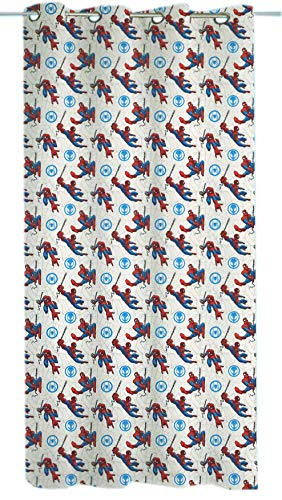 Hermet srl tenda velo disney a pannello con anelli lavabile prodotto originale, minnie mouse, topolino mickey, frozen, spiderman, principesse cm 140 x 290 (spiderman)