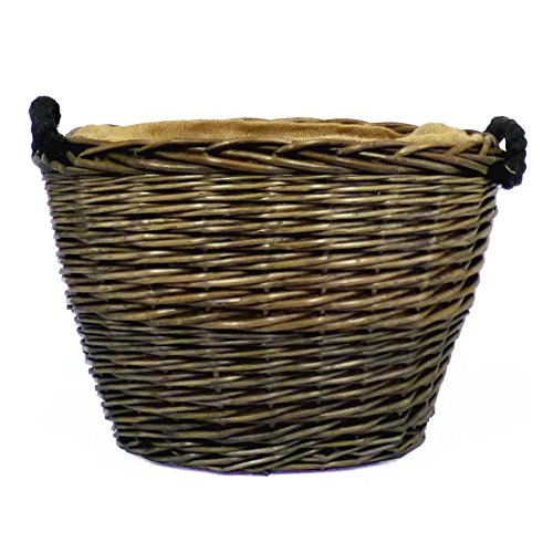 Antique Wash acabado Oval cesta almacenamiento forro
