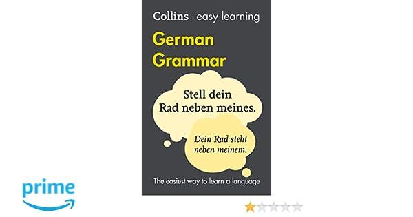 collins easy learning german grammar amazon de collins dictionaries bucher