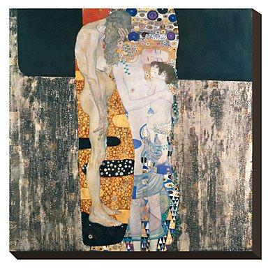 Piteng™ Les trois âges de la femme, c.1905 par Gustav Klimt célèbre toiles tendues , 28