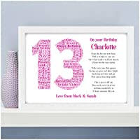 Personalised 13th 16th 18th 21st Birthday Gifts for Her Daughter Sister Girls Best Friends Boys Son 30th 40th 50th 60th 70th Birthday Presents for Him Dad Grandad Mum Nanny Granny - A5, A4, A3 Prints and Frames - 18mm Wooden Blocks - FREE Personalisation
