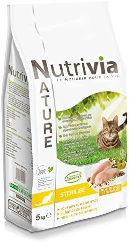 Nutrivia Nature : Croquette Chat Stérilisé : Dinde,poulet 5kg