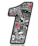 Startnummer Nummern Zahl Auto Moto Vinyl Aufkleber Bomb Sticker Motorrad Motocross Motorsport Racing Nummer Tuning N 341