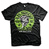 Gas Monkey Garage Officially Licensed - Grünes Logo T-Shirt GMG Schwarz Trikot T Shirt (Medium)