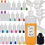 Rauchölflasche,Nadeltropfflaschen Filling Bottles E-Juice Needle Tip LDPE, Nadelflasche, Squeeze bottle, leere Liquidflasche für E-liquids zum Mischen oder Nachfüllen von E-Shishas und E-Zigaretten (25pcs, 60ml)