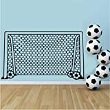 Lglays Fußball Fußball Tor Net Ball Sport Wandtattoo Vinyl Dekor Kunst Wandaufkleber Für Jungen Zimmer Kinder KindergartenWohnkulturWandbild56 * 100 Cm