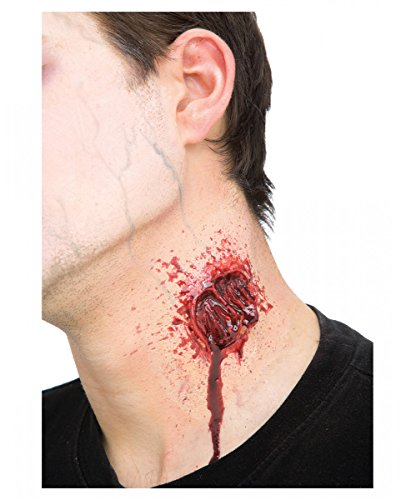 Horror-Shop Vampir Bisswunde aus Latex als Halloween Make-up Effekt Zubehör
