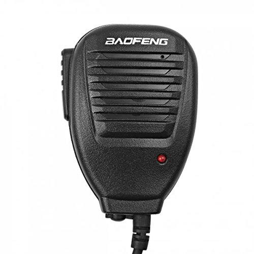 Baofeng 2Pin Microfono remoto per UV-5R/uv-5re UV-5R Plus/gt-1/gt-3/gt-3tp/gt-5/gt-5tp/h-777/888S, Kenwood/Wouxun/Puxing Linton Radio bidirezionale walkie-Talkie ricetrasmettitore, Nero