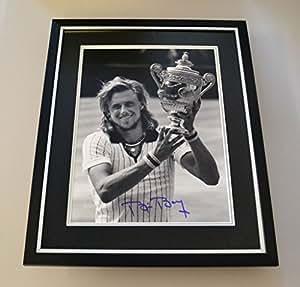 Bjorn Borg Signé photo Grand écran encadrée Autographe de Tennis de souvenirs + COA