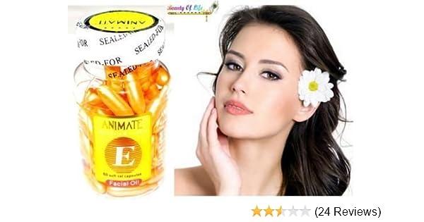 Animate Aloe Vera and Vitamin E Facial Oil for Acne Marks Soft Gel (60  Capsules)