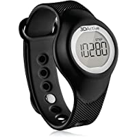 3DActive Non-Bluetooth 3D Pedometer Wristband Watch (PW-300) with Lanyard, Accurately Monitor Steps, Calories Burned, Distance and Duration, 14 Days Memory, Simple Tap Function & Easy to Read.