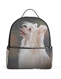 ALAZA Mochila Perro Chino con Cresta por School Bookbag