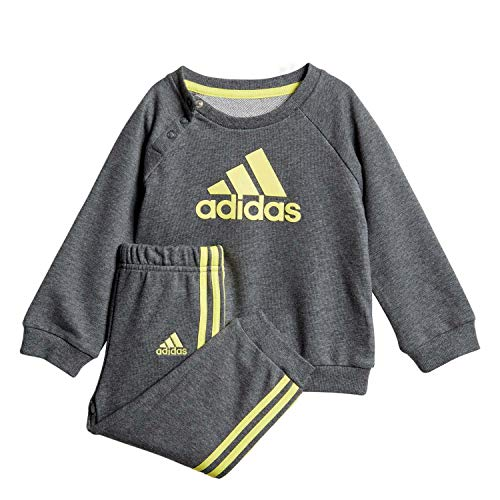 adidas Baby-Jungen I Logo Jogg Ft Trainingsanzug, Mehrfarbig (Brgros/Amasho), 86