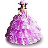 Creation® Violet Fashion Party Dress Princesse Vêtements / soirée / Robe de poupée Barbie