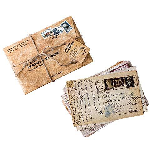 Lot de 30 cartes postales de style rétro - Style vintage - Lot de 30 motifs différents - Parfait pour un livre d'or de fête de mariage