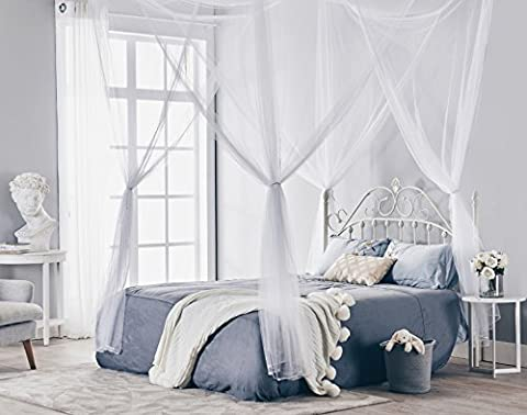 Truedays Four Corner Post Bed Princess Canopy Mosquito Net Full