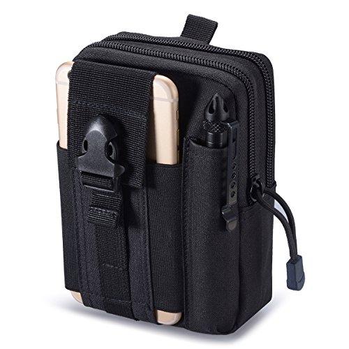 Zeato–Bolsa táctica EDC, portadispositivos para el cinturón, para teléfono móvil iPhone 6y 6Plus, 7/7Plus, Samsung Galaxy S8,S7,S6, LG, HTC y otros
