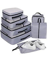 Organizador de Viaje Organizadores para Maletas, 7 Set Bolsas de Equipaje, Impermeable Organizador de Maleta Bolsa para Ropa Zapato Sucia de Viaje