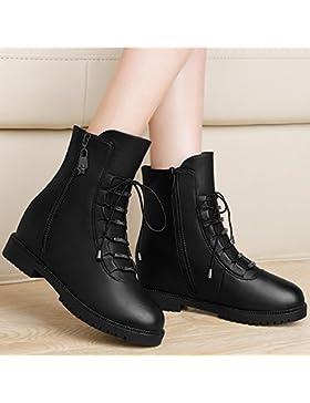 KPHY-Con Mayor En Primavera Y Otoño - Invierno Zapatos Algodon Cabeza Atar Zapatos Zapatos Zapatos De Tacon Con...