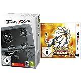 New Nintendo 3DS XL metallic schwarz (TN Variant) & Pokémon Sonne - [3DS]