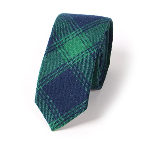 N.R.S 6cm Necktie for men Checkered/ Buffalo Cotton Plaid Men's Skinny Tie Great for Weddings, Groom, Groomsmen, Missions, Dances, Gifts