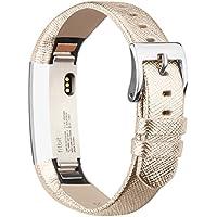 Für Fitbit Alta Alta HR Armband, Vancle Leder Uhrenarmband Anpassbare Bequemen Fitbit Alta Ersatz armbänder mit Edelstahl Schnalle (Kein Tracker)