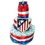 Tarta de pañales DODOT Atletico de Madrid