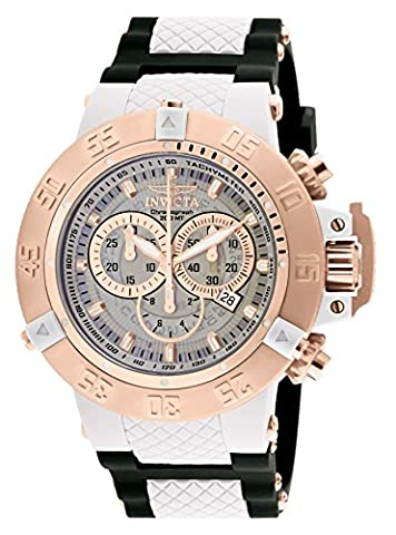 Invicta Men's Quartz Watch with Multicolour Dial Chronograph Display and Black Plastic Strap 0931
