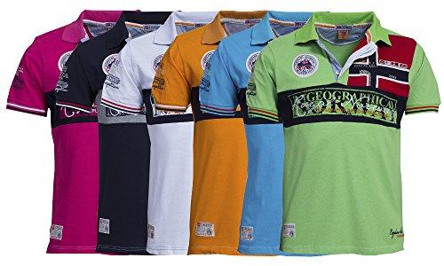 Original Geographical Norway Poloshirt für Männer – Modell: Kyer - Herren - Stylisches casual kurzarm Polo Shirt für Freizeit - Sport - T-Shirt