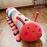 Yuhualiyi123 Giocattolo colorato Caterpillar Peluche Sleeping Cuscino Lungo Bambola Ragdoll Bambino Femminile Regalo di Compleanno 50/65 / 90/110/130 Centimetri (Color : Pink, Size : 90cm)