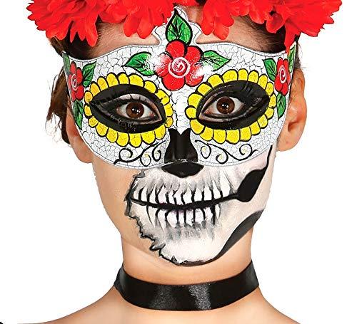 Guirca Fiestas GUI12907 - Gesichtsmaske Tag der Toten (Traditionelle Kostüm Für Tag Der Toten)