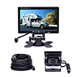Camecho Car Backup System 7 TFT monitor + cámara de visión trasera (Sin línea de distancia) Visión nocturna para RV / Bus / Caravana / Camper