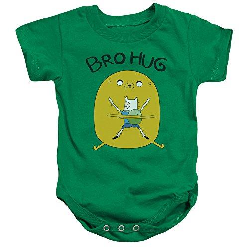 Adventure Time - - Kleinkind Bro Hug Strampelanzug, 6 Months, Kelly Green