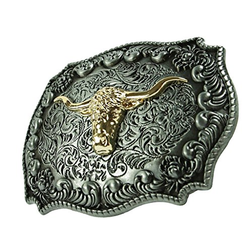 Prettyia 1 Stück Gürtelschnalle Vintage Western Cowboy Schnalle Böhmen-Gürtelschnallen für Jeans Ledergürtel
