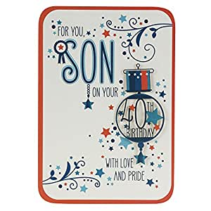 Hallmark 40th Birthday Card For Son 'With Love and Pride ...